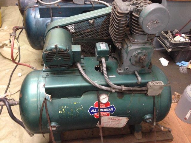 ALL AMERICAN, 5 HP, 60 Gal Tank, Piston Type, 125 psi