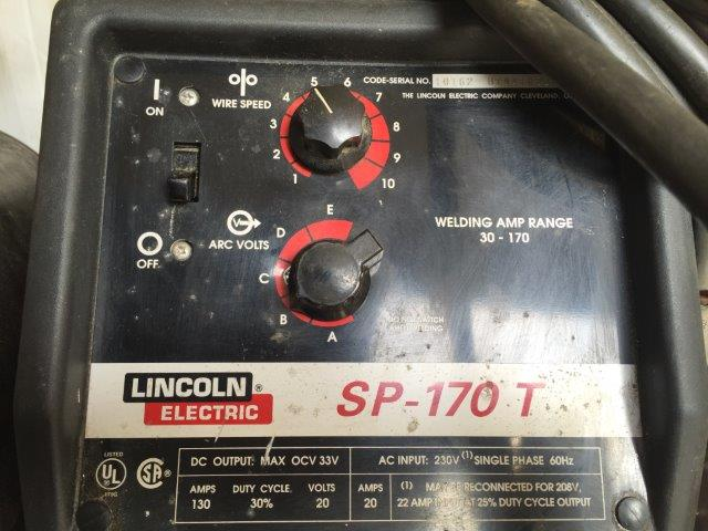 LINCOLN, No. SP-170T, 170 Amps, MIG Welder, 220v, 3ph