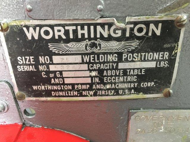 2500 Lb., WORTHINGTON, No. 25P, 32 x 32 SQUARE TOP