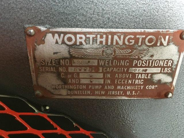 2500 Lb., WORTHINGTON, No. 25P, 48 DIAMETER W/ 16 3 JAW CHUCK