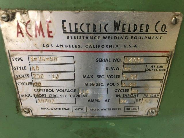 50 KVA, ACME, No. 3-24-50, 24 THROAT