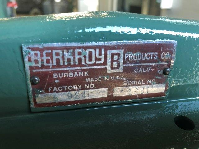 20 Ga. x 2', BERKROY, No. B924, FINGER BRAKE