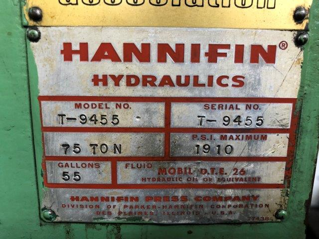 75 Ton, HANNIFIN, 12 X 84 TABLE, 10 HP, 9.5 STROKE